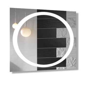 """Зеркало """"Солнышко"""" с Led-подсветкой d30"""